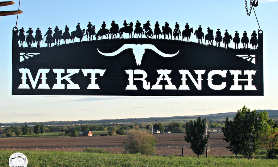 Sign for MKT Ranch, Nevada