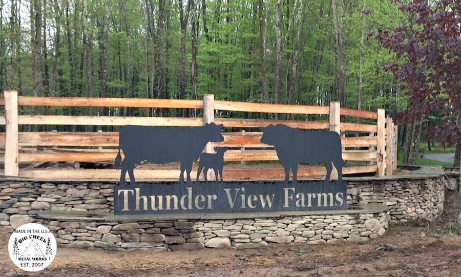 Sign for Thunder View Farm in New York