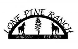 Lone Pine Ranch Sign