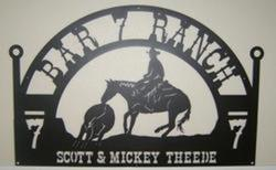 Bar 7 Ranch Sign