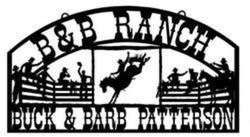B and B Ranch Sign