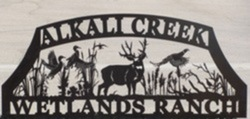 Alkalai Creek Ranch Sign