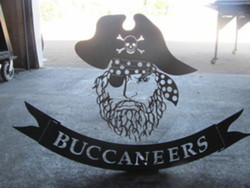 Buccaneers School Sign