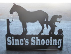 Sinc's Shoeing sign