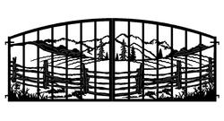 Fence and Mountains Gate