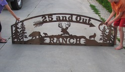 25 and out ranch sign