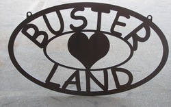 Buster Land Sign