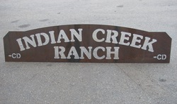 Indian Creek Ranch Sign