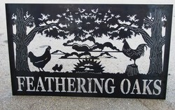 Feathering Oaks Sign