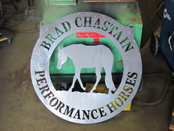 Brad Chastain Performance Horses Sign