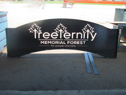TreeTernity Memorial Forest Sign