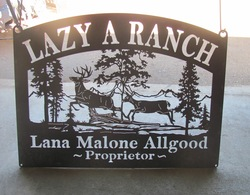Lazy A Ranch Sign