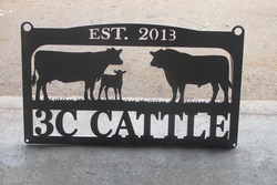 3C Cattle Sign