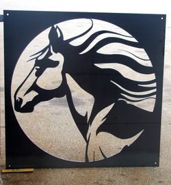 Horse Head In Square