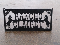 Rancho Clairet Sign