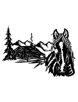 Horse and Cabin