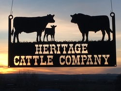 Heritage Cattle Company Sign