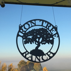 Iron Tree Ranch Sign