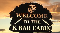 Welcome to the K Bar Cabin Sign