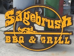 Sagebrush BBQ and Grill Sign
