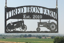 Tired Iron Farm Sign