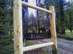 Roberts Cabin Sign