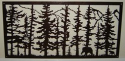 Trees, Mountains, and Bears, Framed
