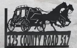 County Road Stagecoach Sign