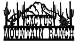 Cactus Mtn. Ranch Sign