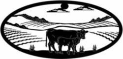 Cow and calf oval