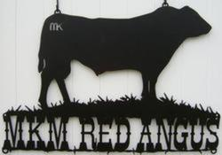 MKM Red Angus Sign