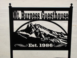 Mt. Burgess Guesthouse Sign