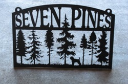 7 Pines Sign