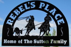 Rebels Place Sign